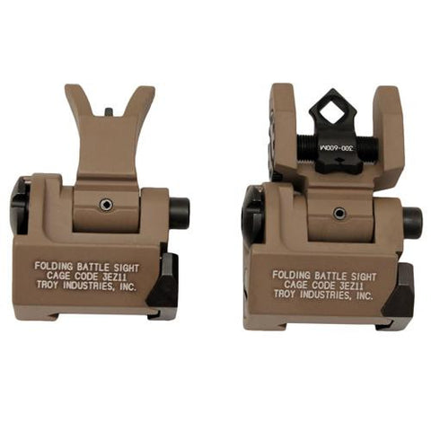 Troy Industries - Micro- M4 Sight Set - Flat Dark Earth, Folding