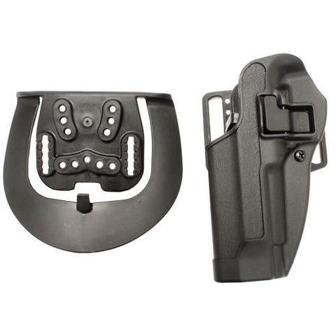 Blackhawk! - Serpa CQC, Belt & Paddle Holster, Plain Matte Black Finish - Beretta 92-96, Left Hand