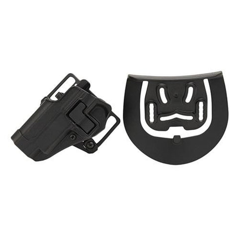 Blackhawk! - Serpa CQC, Belt & Paddle Holster, Plain Matte Black Finish - Matte Left Hand S&W 5900-4000