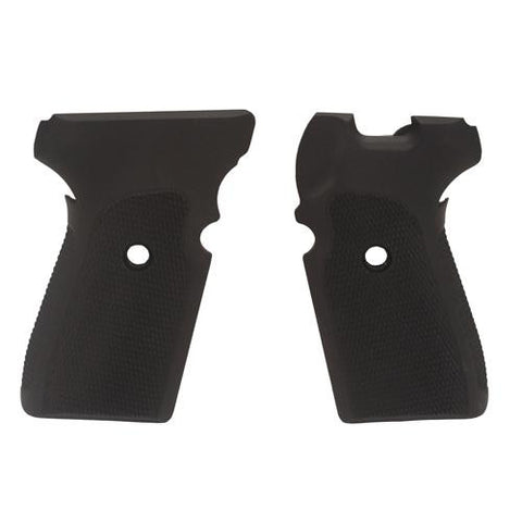 Hogue - Sig P239 Grips - Checkered Aluminum Matte Black Anodized