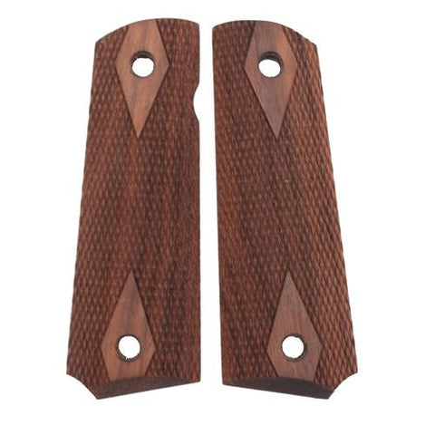Hogue - Colt & 1911 Government Grips - Walnut, Checkered