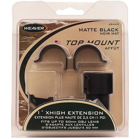 "Weaver - Detachable Top Mount Rings - 1"", Extended, X-High, Matte"