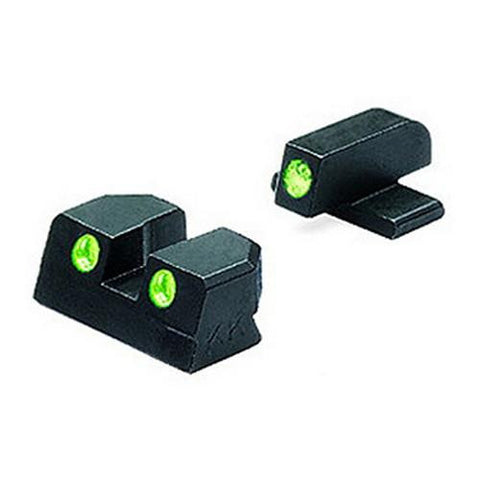 Mako Group - Springfield - Tru-Dot Sights - XD .45 ACP Green-Green Fixed Set