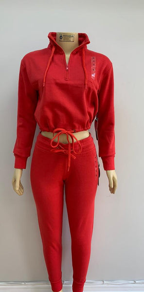Cropped 1/4 zip set