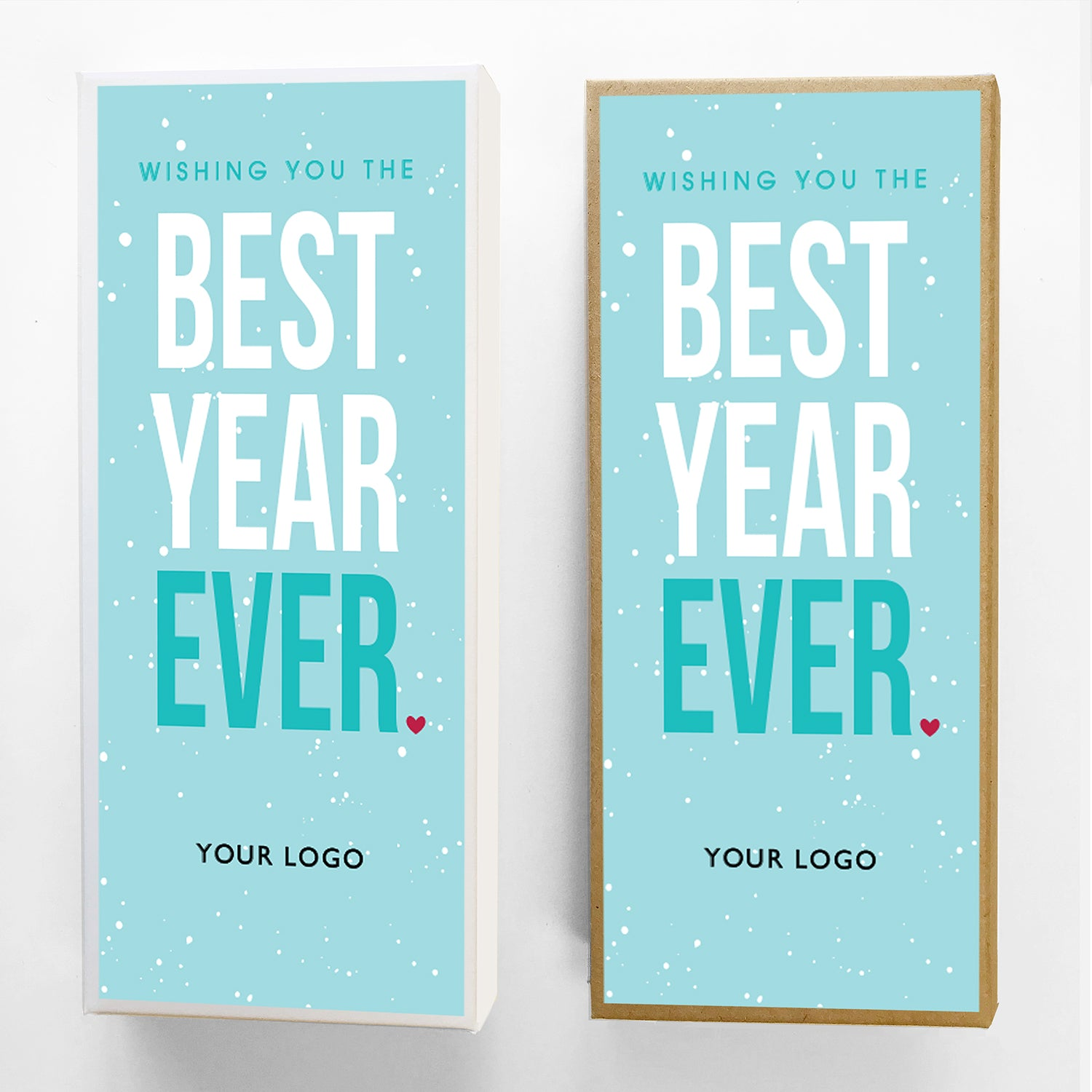Best Year Ever Custom Caramel New Years Gift Box Large
