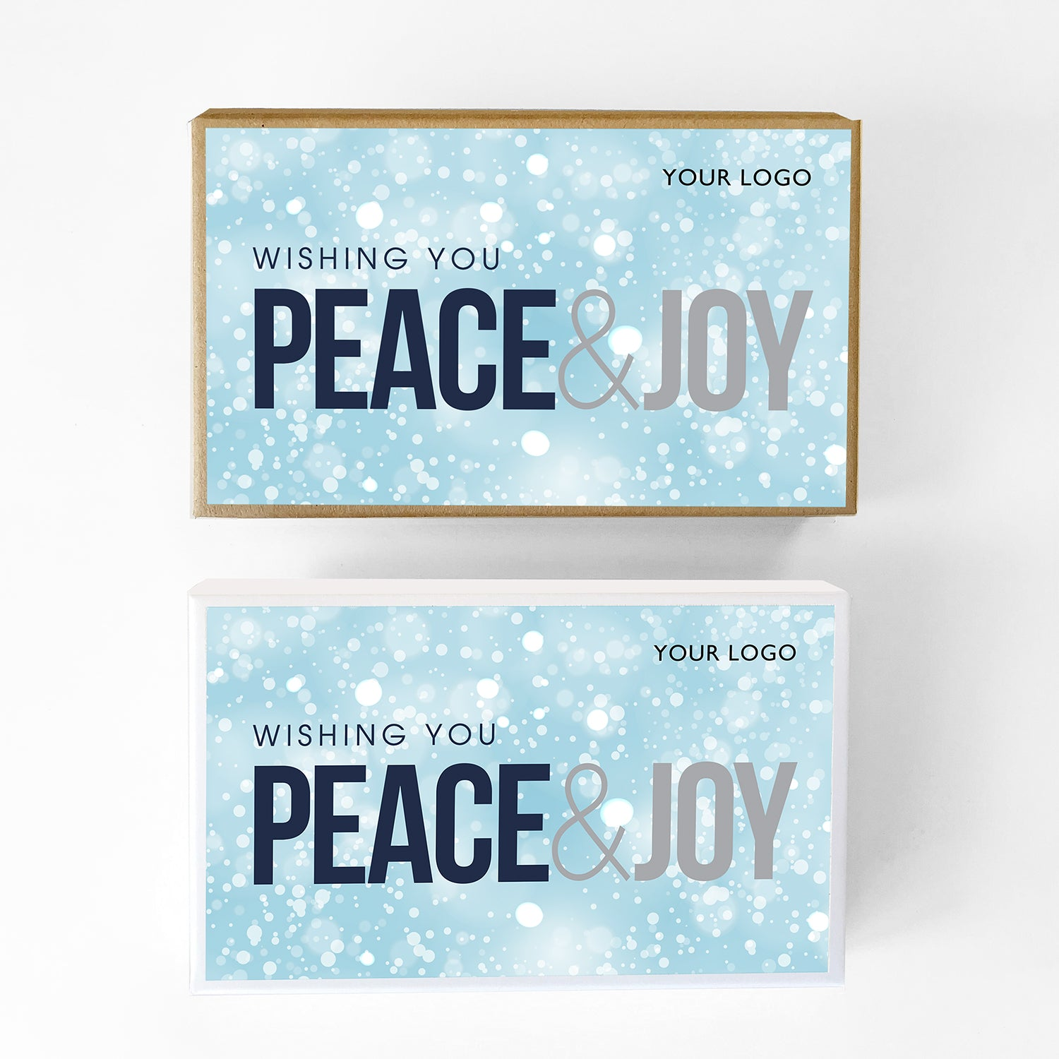 Peace and Joy Custom Caramel Holiday Gift Box