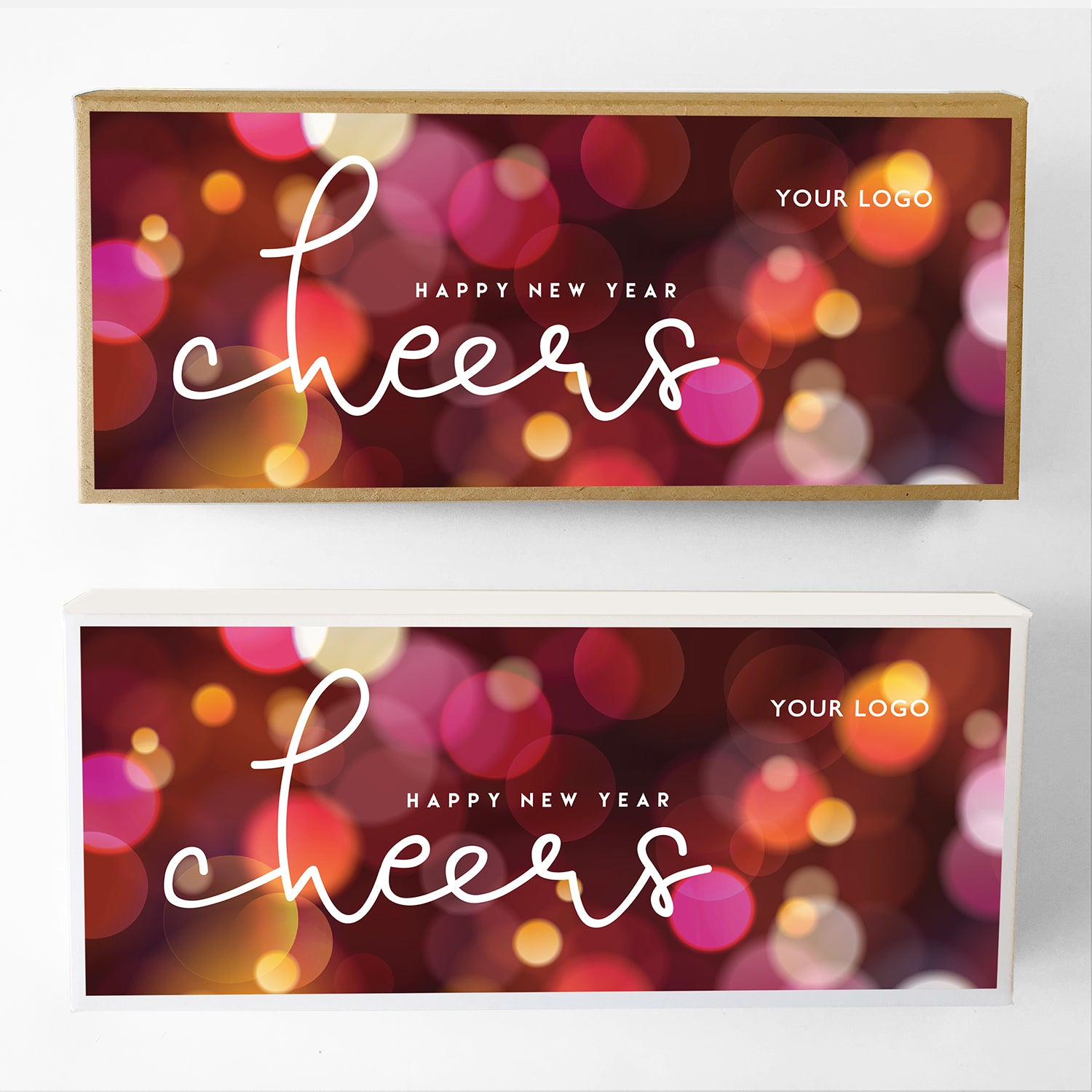 Cheers New Year Custom Caramel Gift Box Large