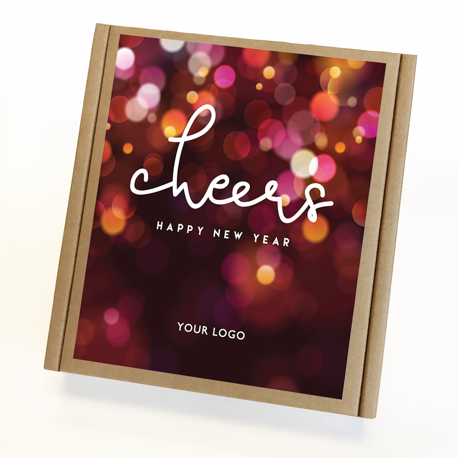 Cheers New Year Eco Custom Caramel Gift Box