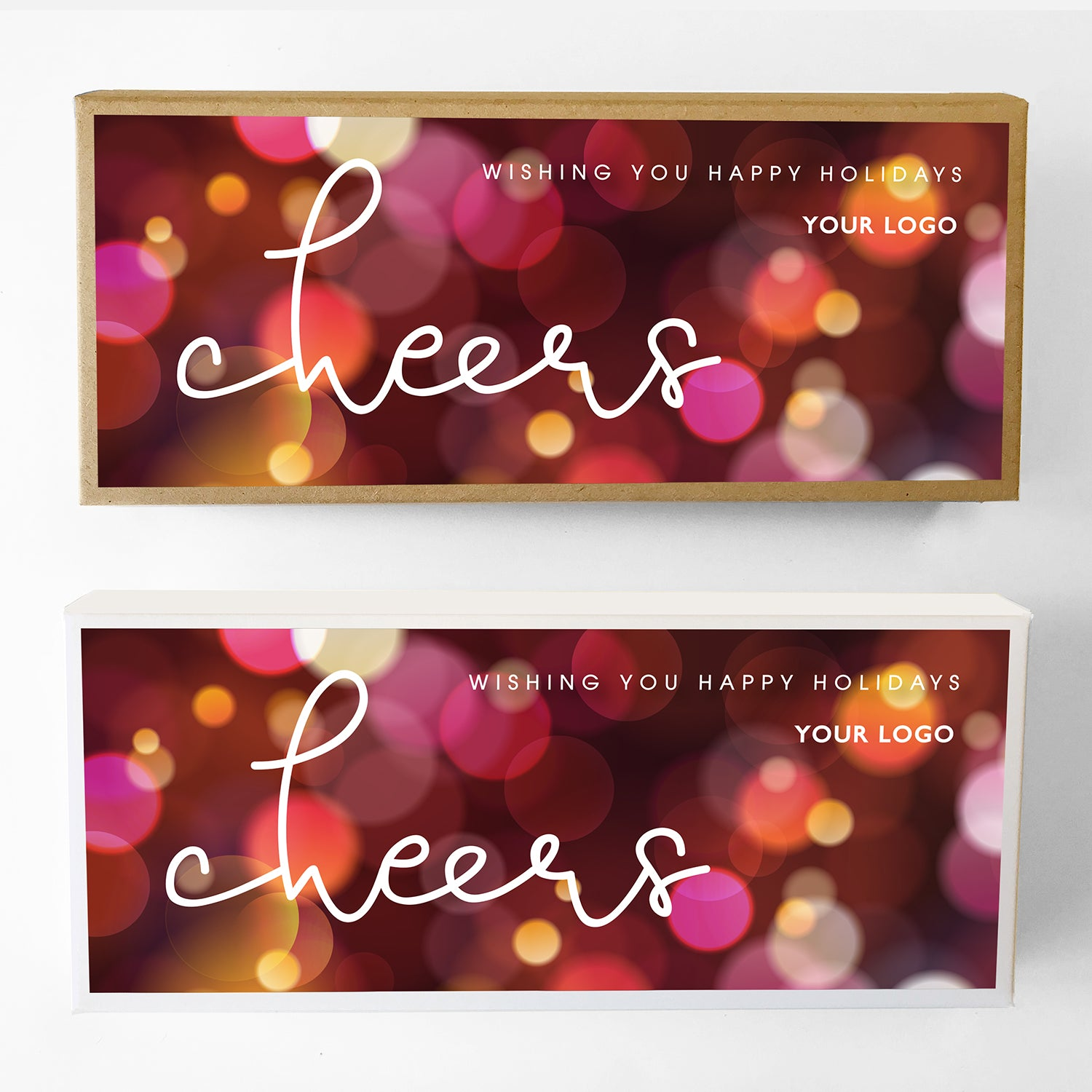 Cheers Custom Caramel Holiday Gift Box Large