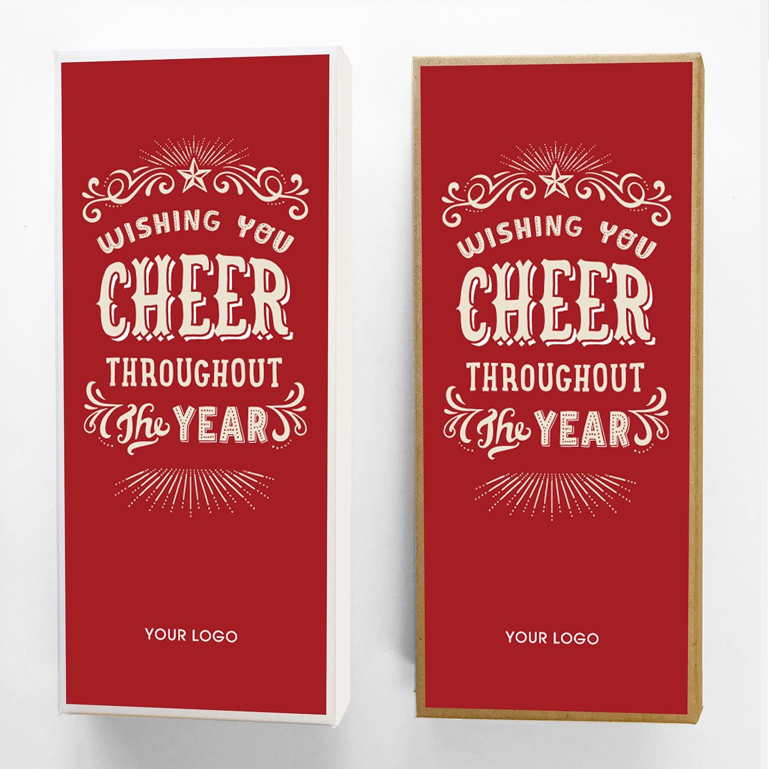 Cheer Year Custom Caramel Holiday Gift Box Large