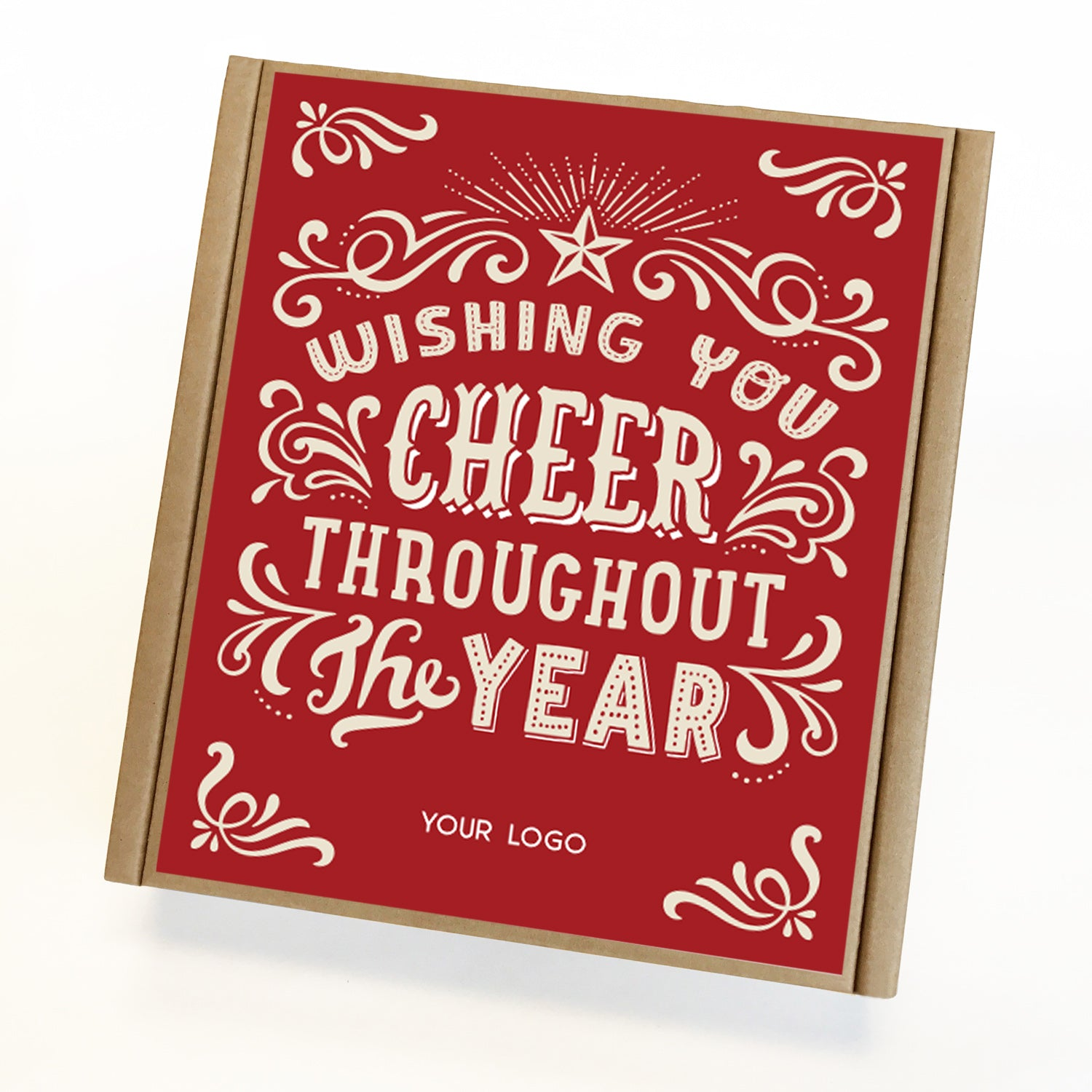 Cheer Year Eco Custom Caramel Holiday Gift Box