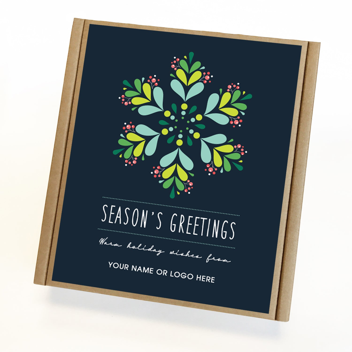 Cool Blue Seasons Greetings Caramel Eco Gift Box