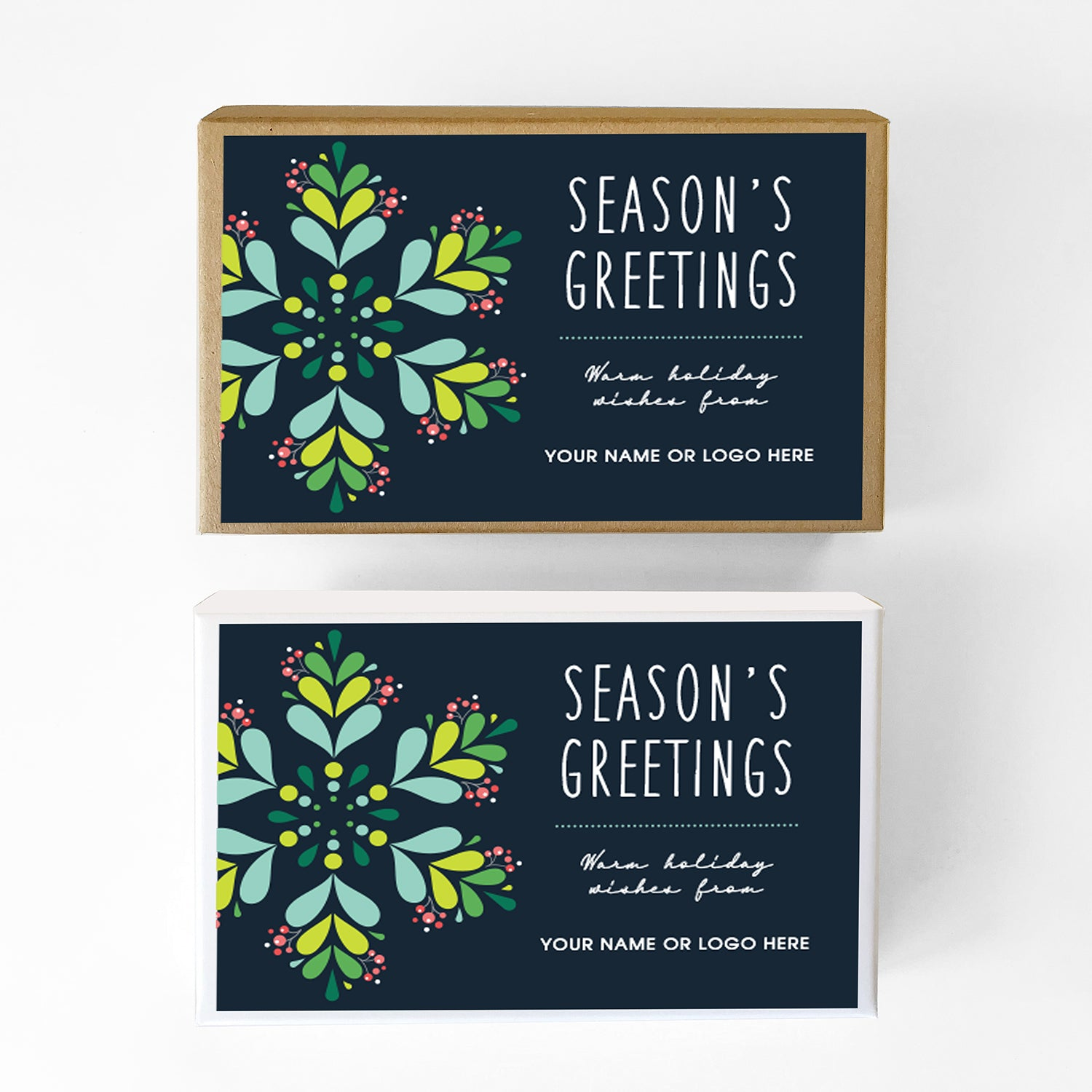 Cool Blue Seasons Greetings Caramel Gift Box Sampler