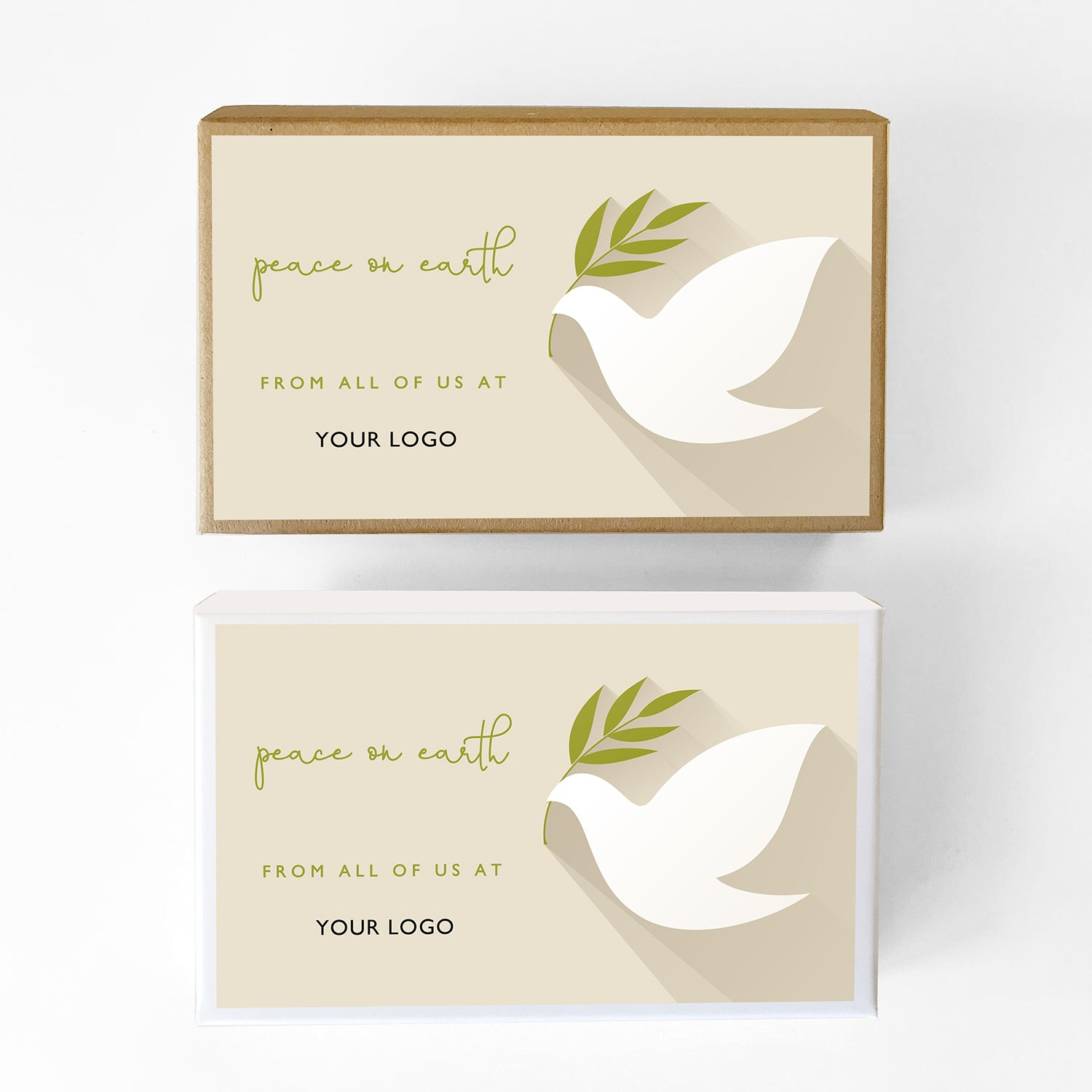 Peace on Earth Dove Custom Caramel Holiday Gift Box