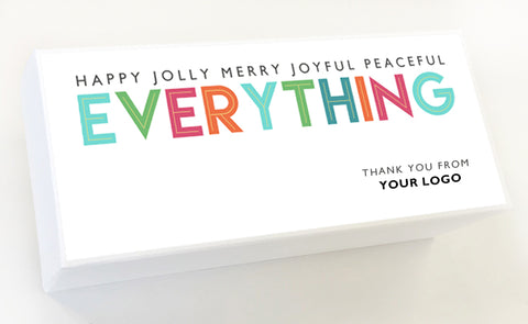Happy Jolly Merry Joyful Peaceful Everything Custom Holiday Caramel Gifts