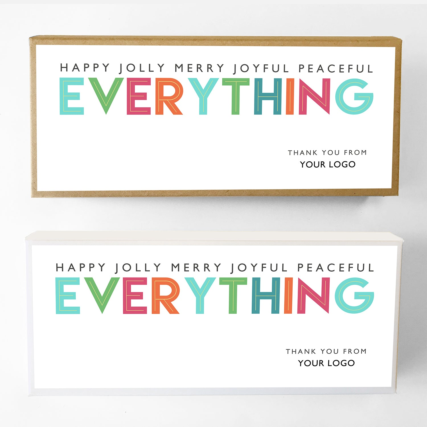 Happy Everything Custom Caramel Holiday Gift Box Large