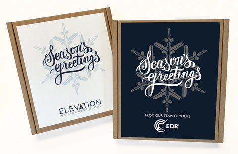 Seasons Greetings Snowflake Holiday Eco Boxes