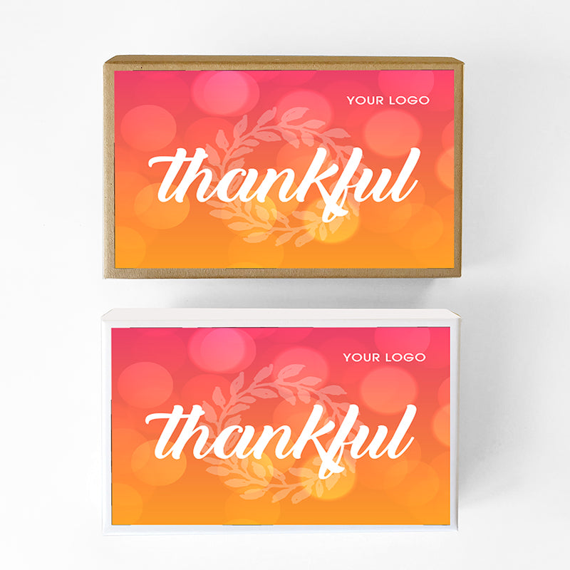 Gratitude Custom Caramel Holiday Gift Box