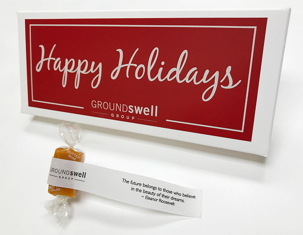 Groundswell custom holiday caramel gift box