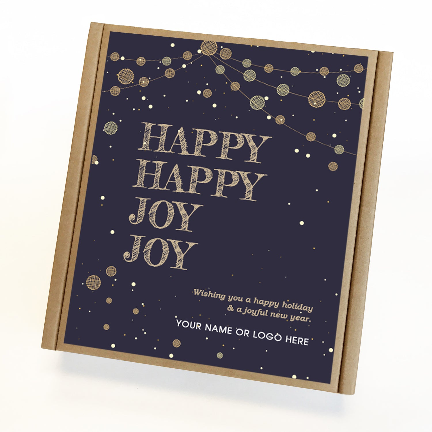 Happy Joy Holiday Caramel Eco Gift Box