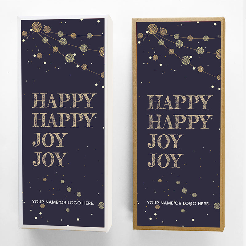 Happy Joy Holiday Caramel Gift Box Large