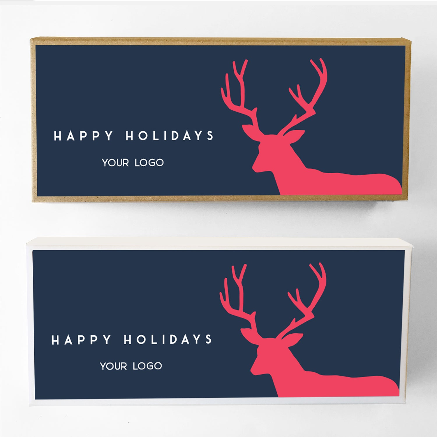 Holiday Stag Custom Caramel Holiday Gift Box Large