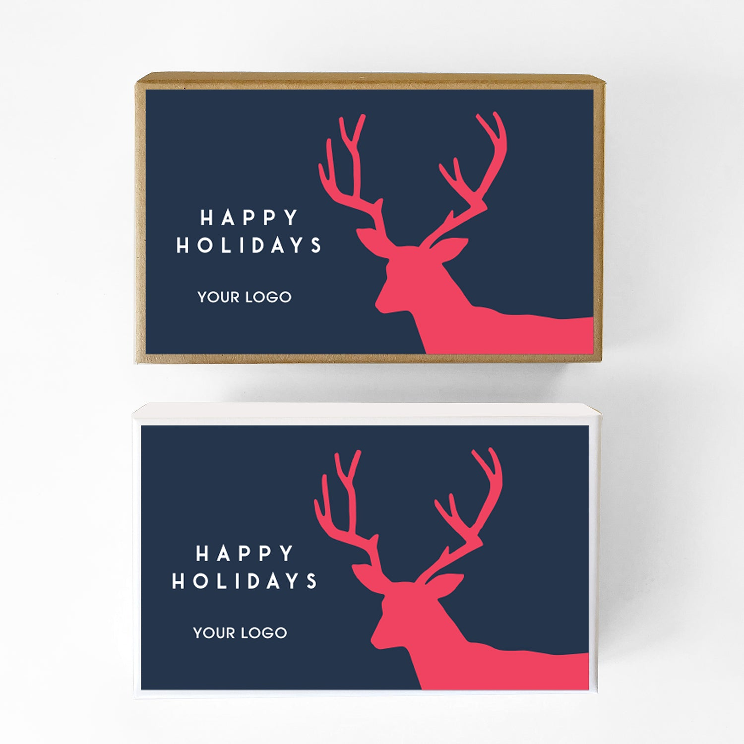 Holiday Stag Custom Caramel Holiday Gift Box