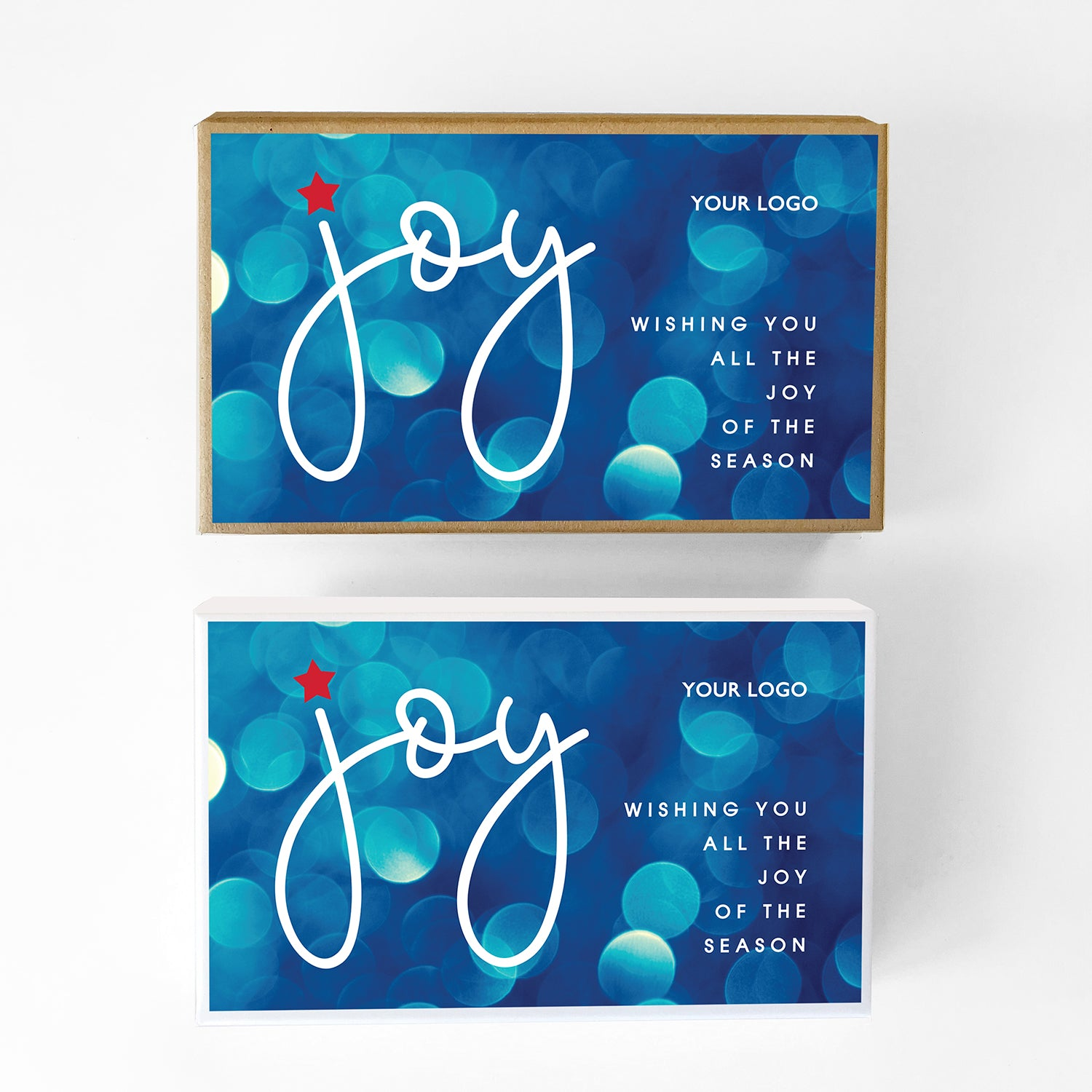 Joy Custom Caramel Holiday Gift Box