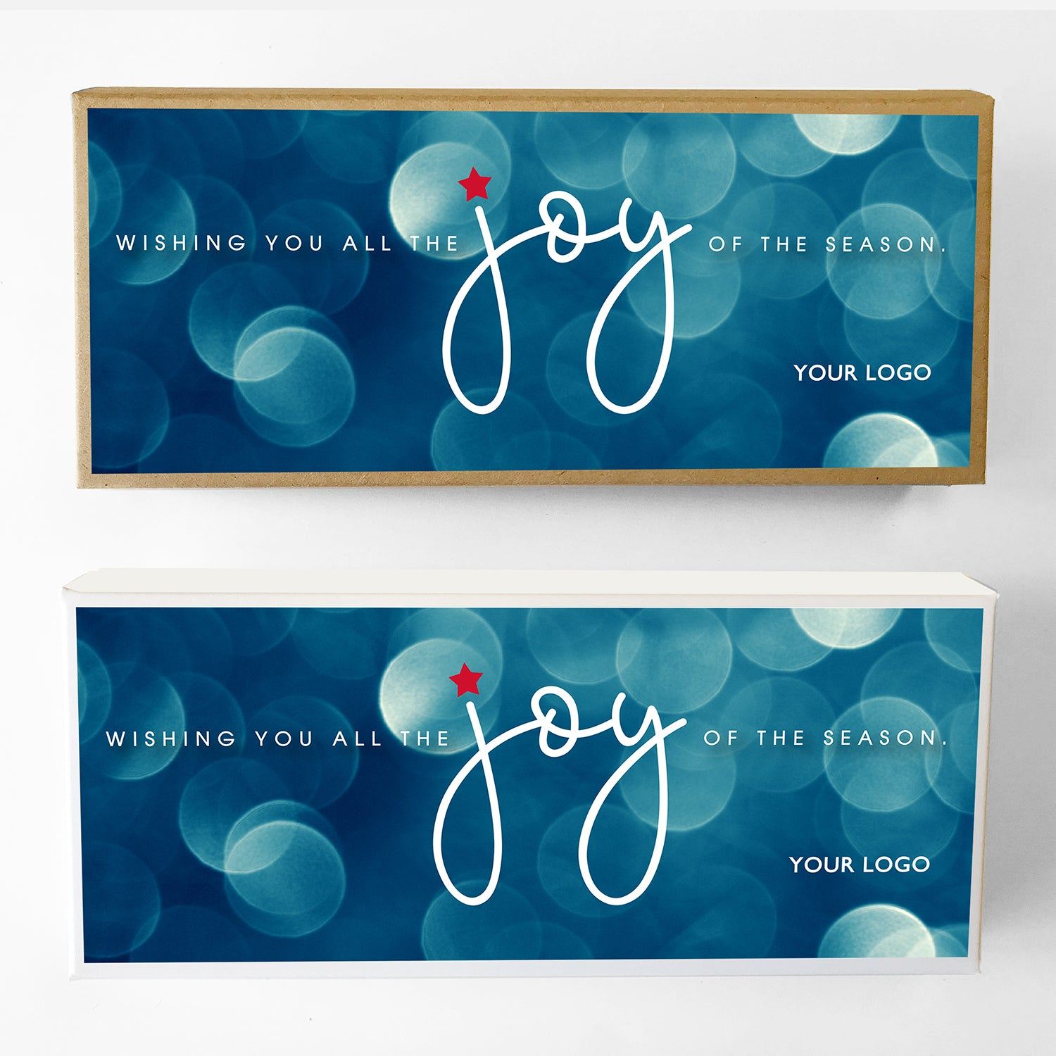 Joy Custom Caramel Holiday Gift Box Large