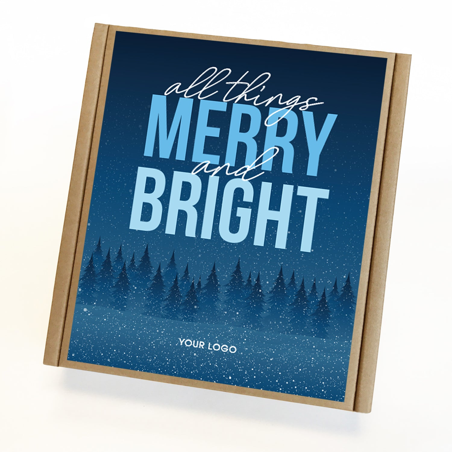 Merry and Bright Holiday Caramel Eco Gift Box