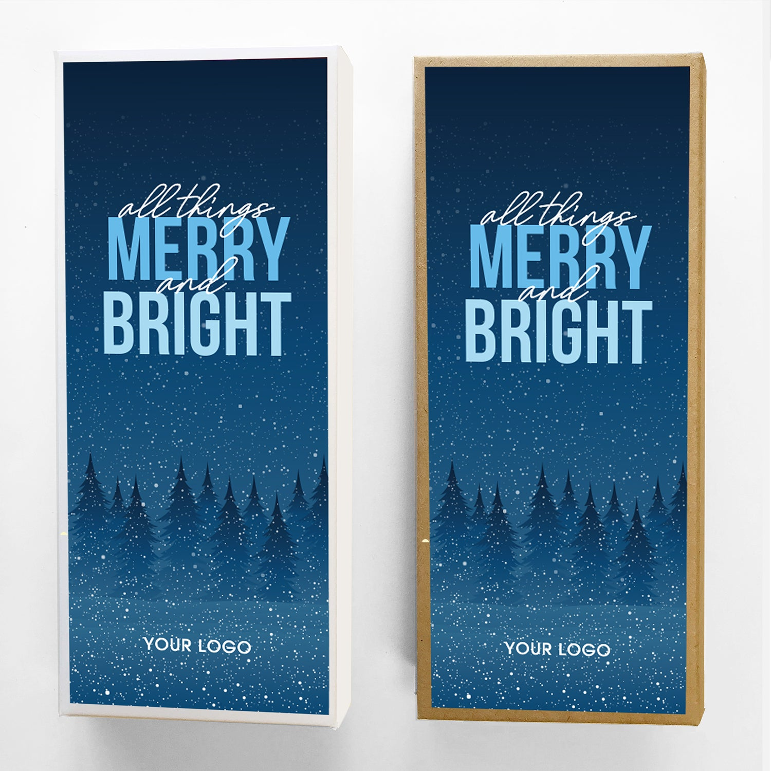 Merry and Bright Holiday Caramel Gift Box Large