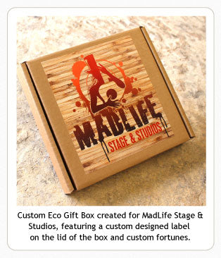 Custom caramel Eco Gift Box for MadLife