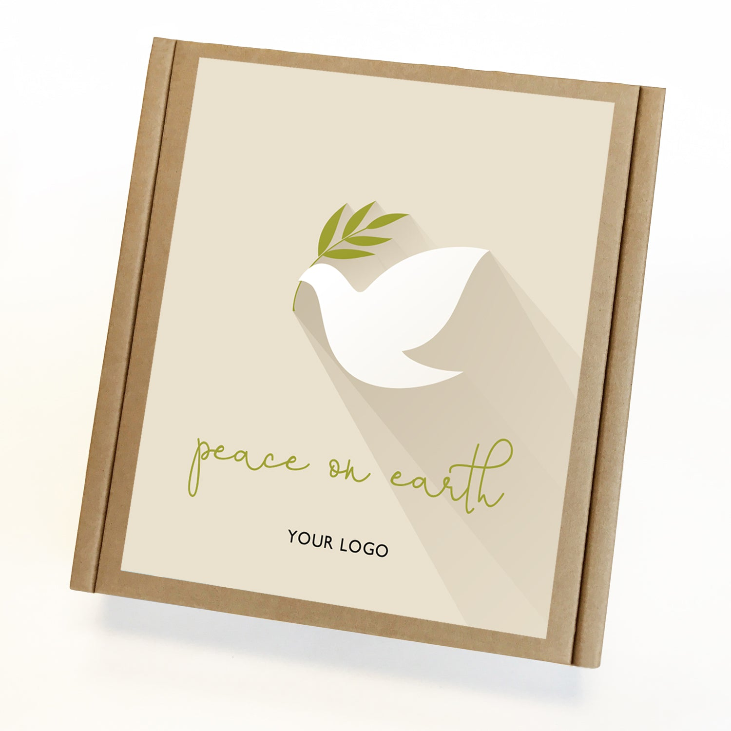 Peace on Earth Dove Eco Custom Caramel Holiday Gift Box
