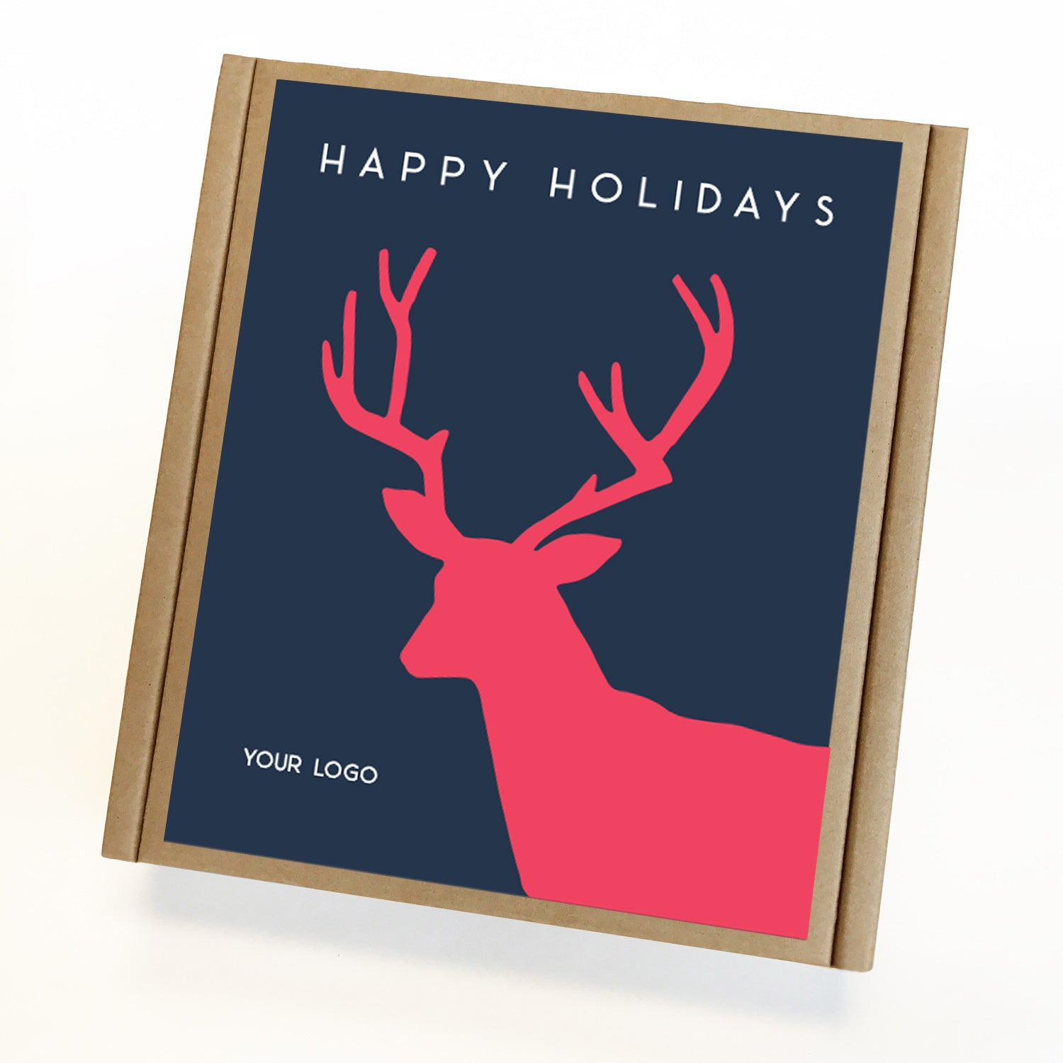 Holiday Stag Eco Custom Caramel Holiday Gift Box