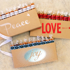 Peace Love Joy Caramel Gift Boxes