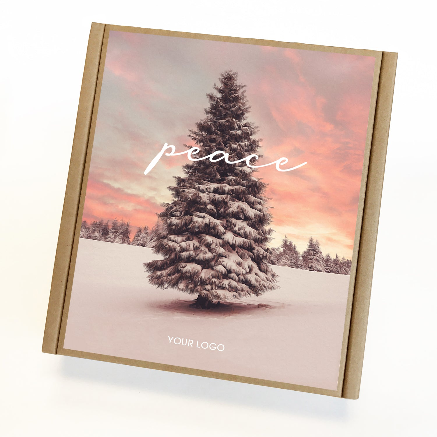 Peace Tree Eco Custom Caramel Holiday Gift Box
