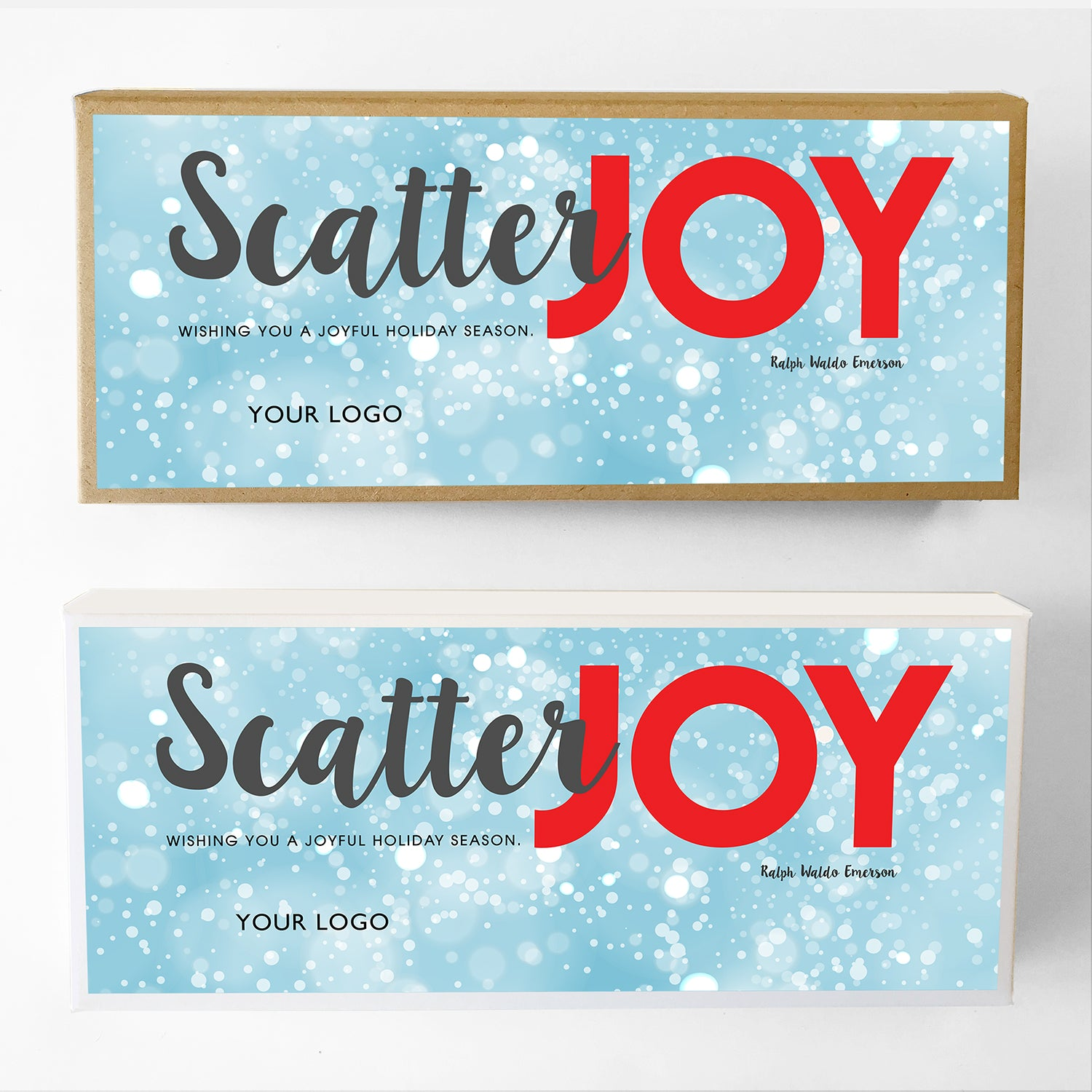 Scatter Joy Custom Caramel Holiday Gift Box Large