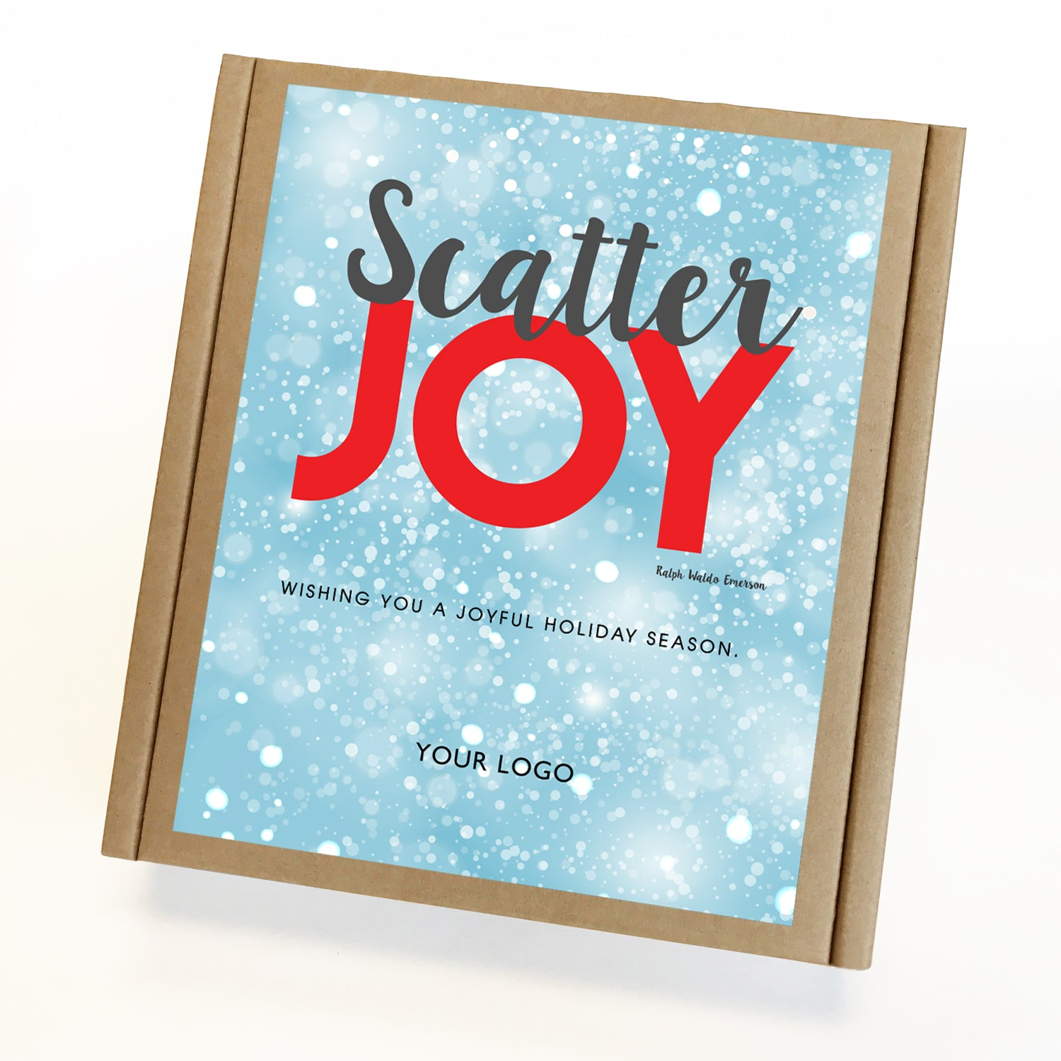 Scatter Joy Eco Custom Caramel Holiday Gift Box