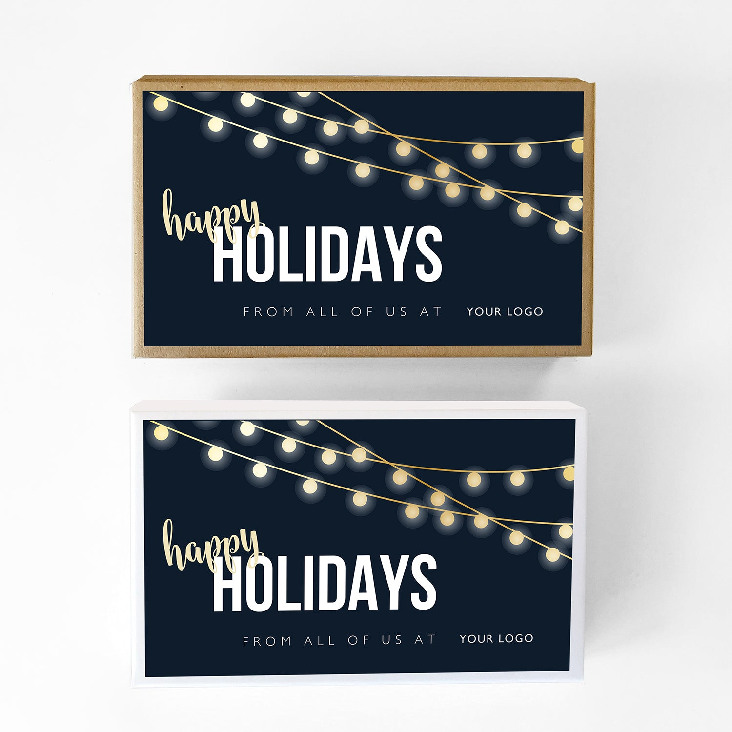 String Lights Custom Caramel Holiday Gift Box