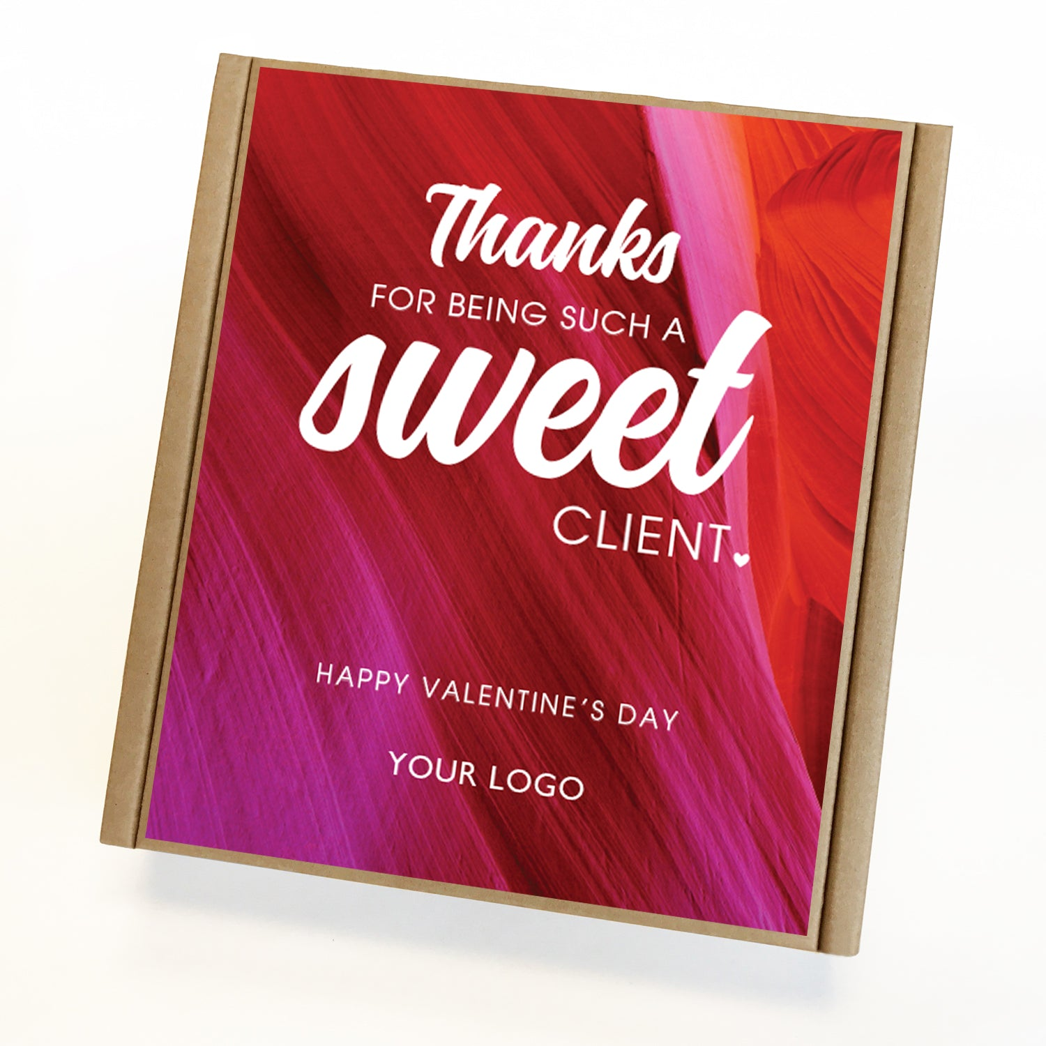 Sweet Client Valentine Caramel Eco Gift Box