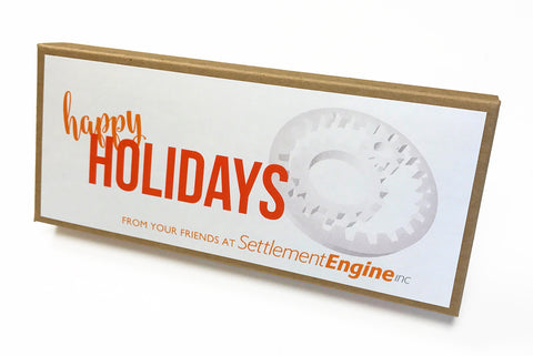 Settlement Engine Custom Holiday Caramel Gift Box