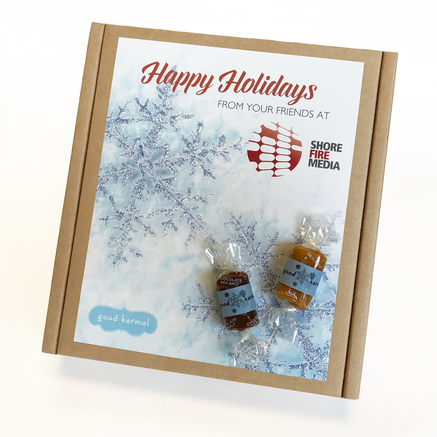 ShoreFire Media Custom Caramel Holiday Gift Box