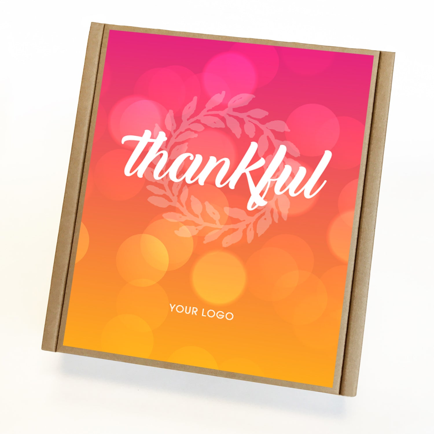 Gratitude Eco Custom Caramel Holiday Gift Box
