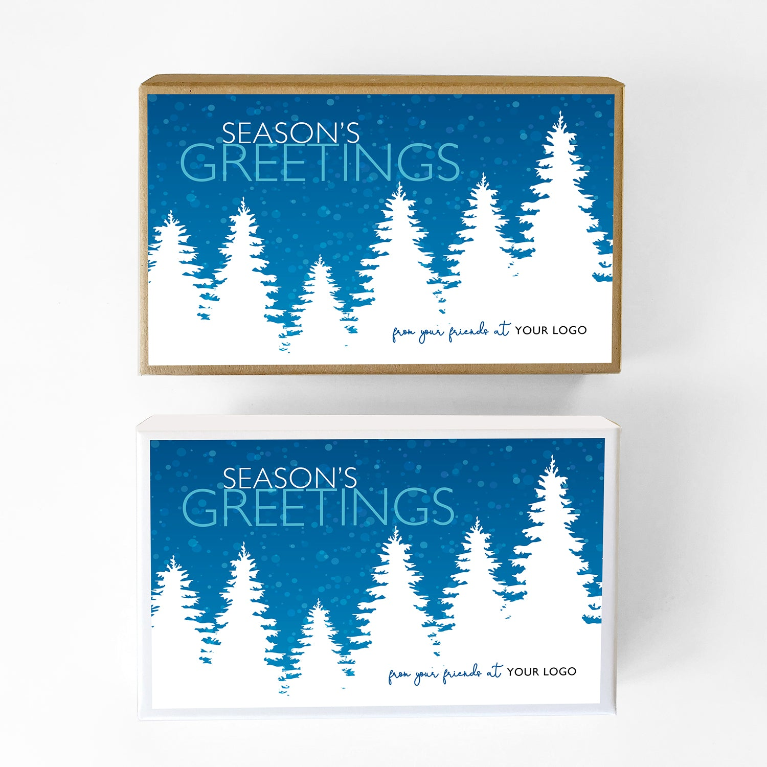 Mountain Treeline Custom Caramel Holiday Gift Box
