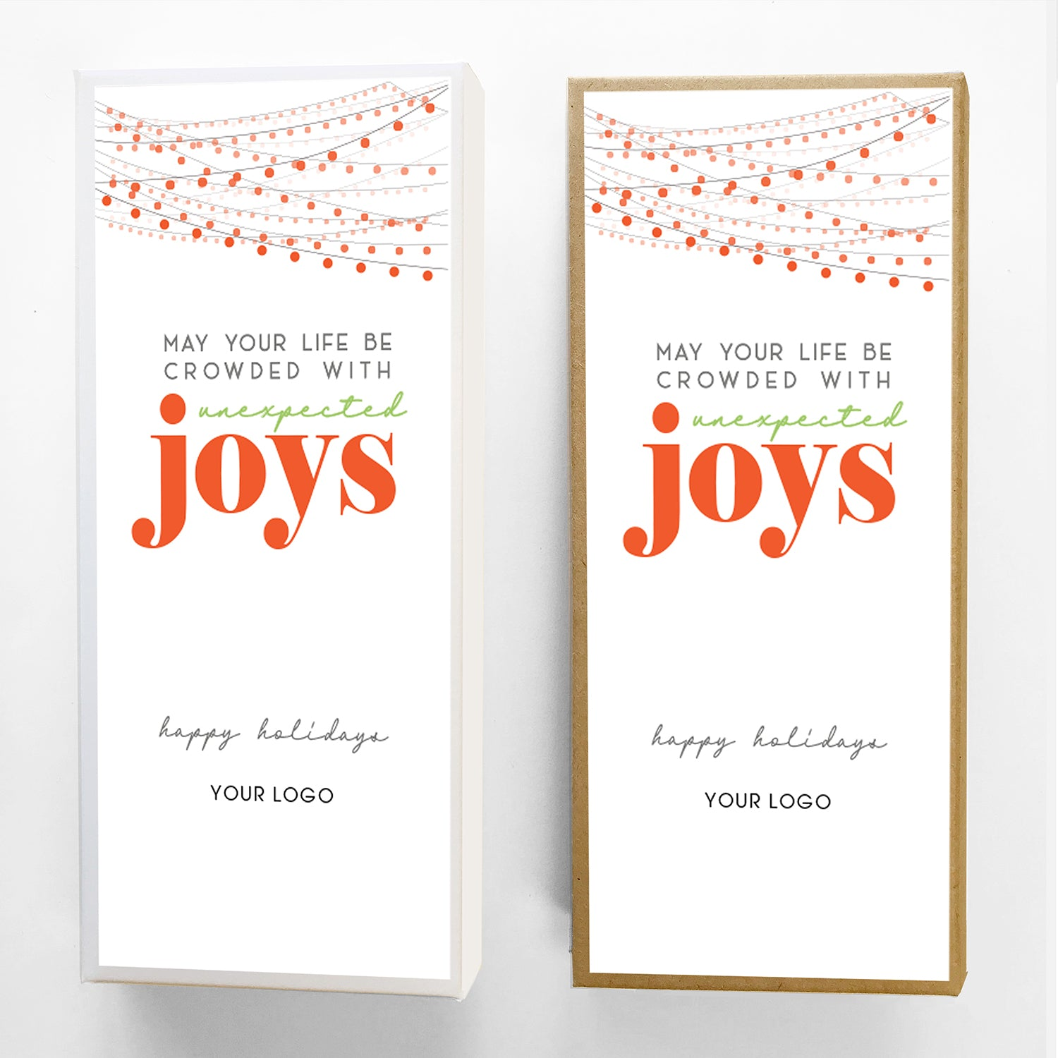 Unexpected Joys Custom Caramel Holiday Gift Box Large