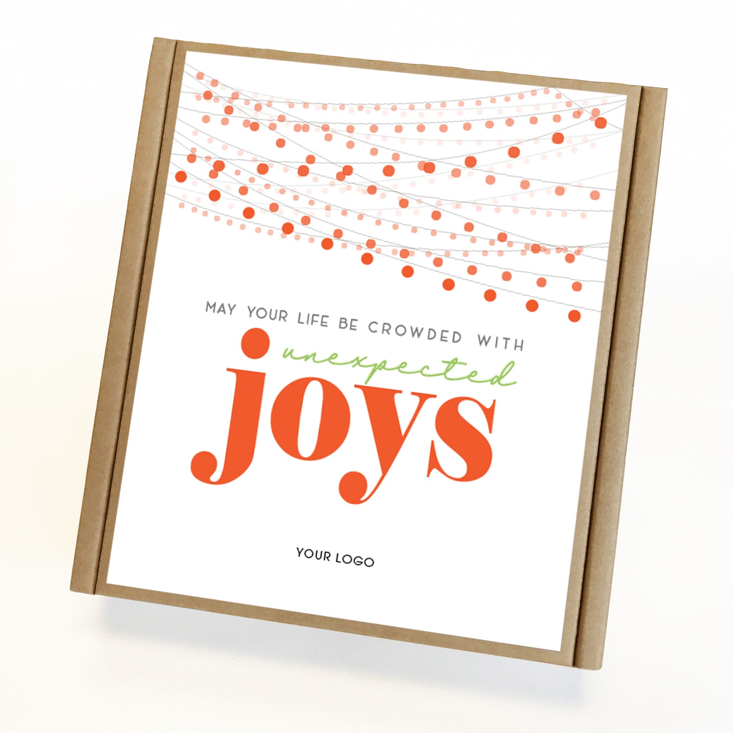 Unexpected Joys Eco Custom Caramel Holiday Gift Box