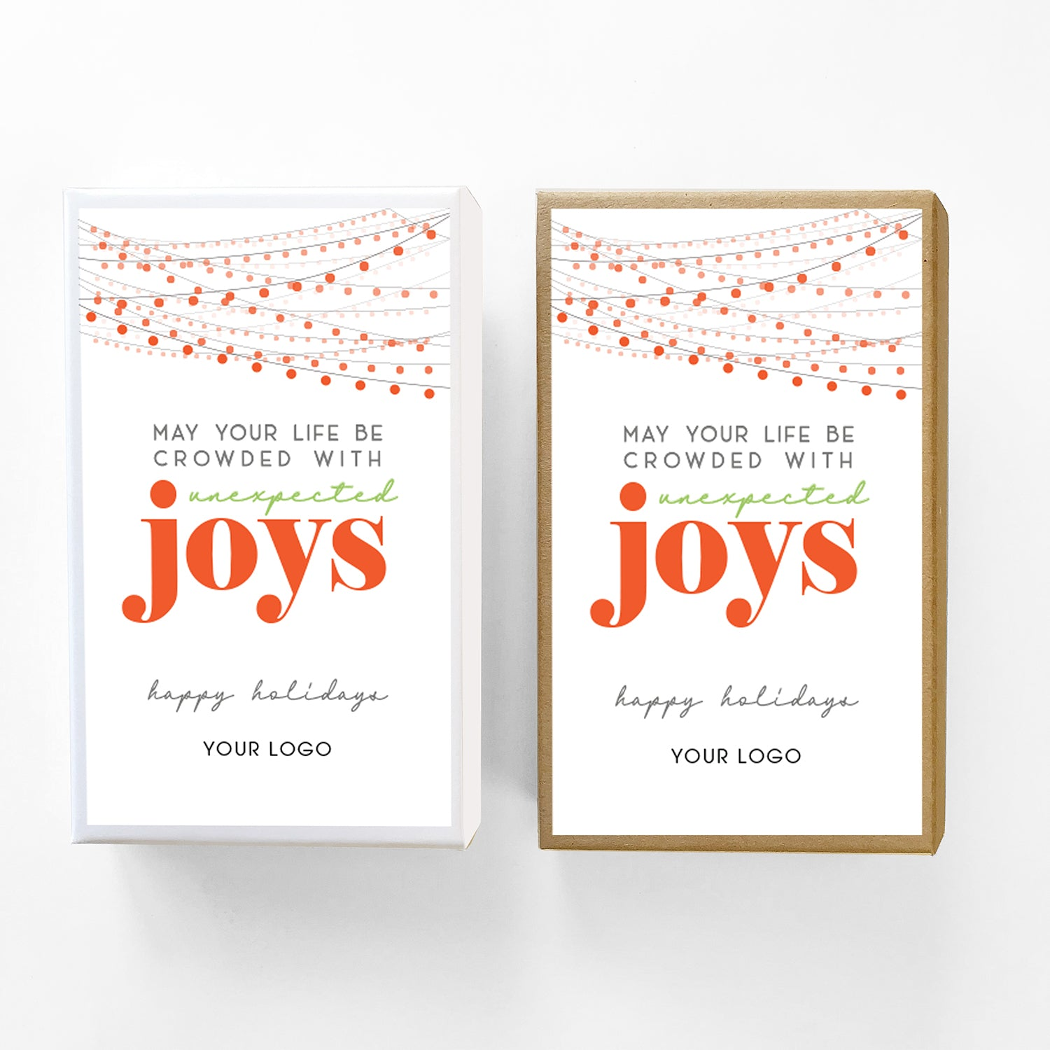Unexpected Joys Custom Caramel Holiday Gift Box
