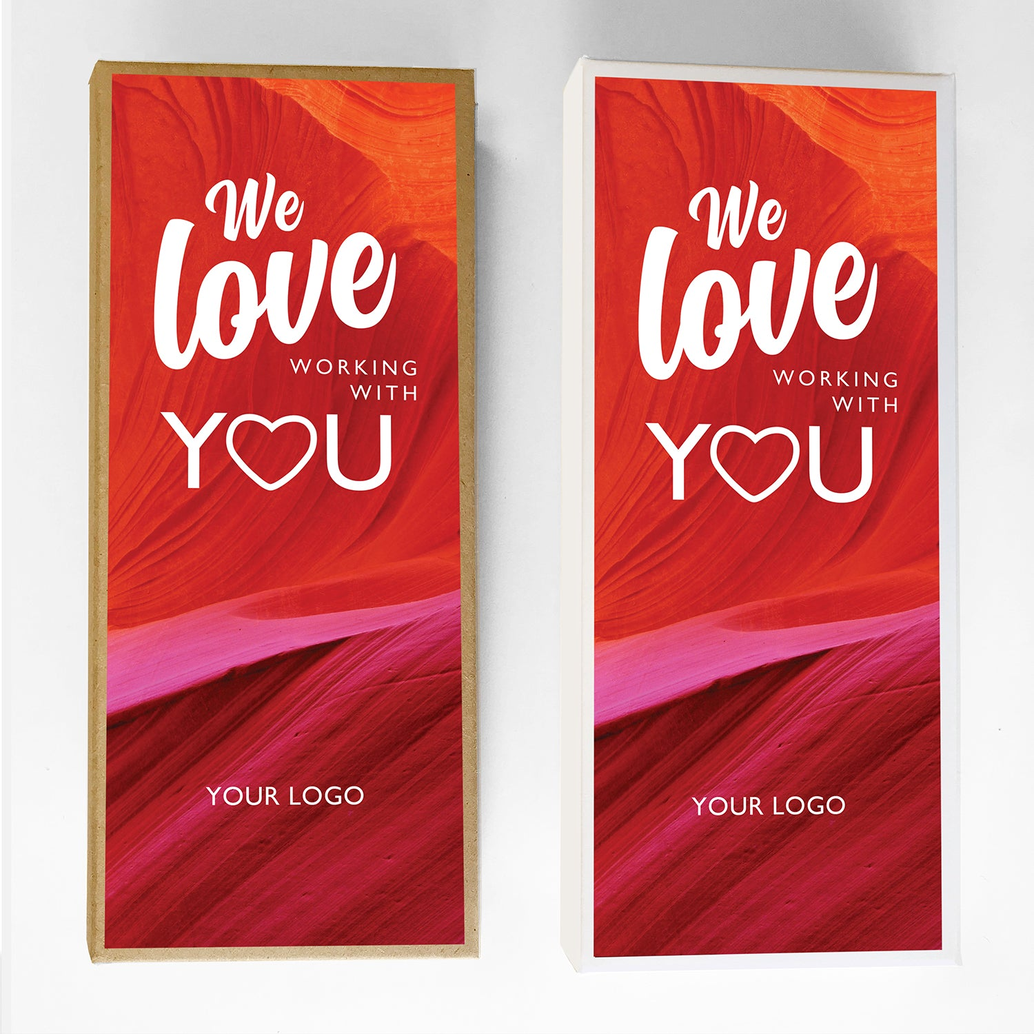Love Working With You Valentine Caramel Gift Box Large