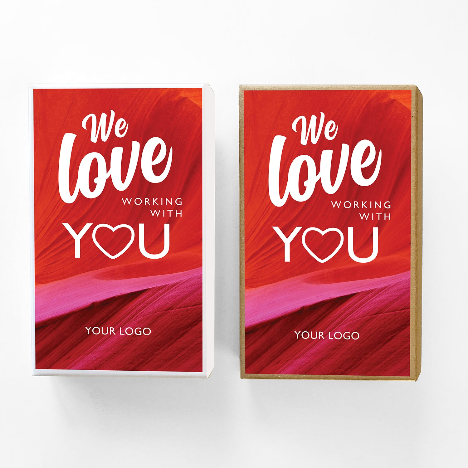 Love Working With You Valentine Caramel Gift Box Sampler