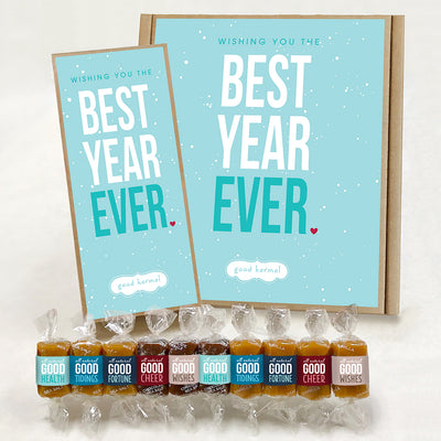 Best Year Ever Holiday caramel gift box -- good karma gifts